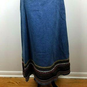 Denim & Co Womens Skirt Size 18 Midi Length Ribbon